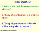 Delay of Gratification - Lesson Presentation, Videos - Start of Year Lesson