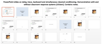 Delay, trace, backward and simultaneous classical conditioning
