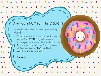 Delectable Donuts - Clip Art and Digital Paper Pack