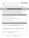 Deleting Extra Words - 2018