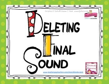 Deleting Final Sound Flashcards