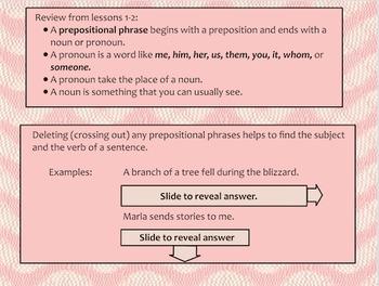 Lesson 3 Deleting Prepositional Phrases