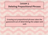 Lesson 3 Deleting Prepositional Phrases