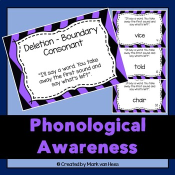 Phonological Awareness Task Cards - Deletion Boundary Consonant