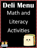 Deli Menu Math and Literacy Activities