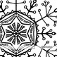 Winter Snow Flake ClipArt, Delicate SnowFlake, Christmas Digital Stamps, Frozen