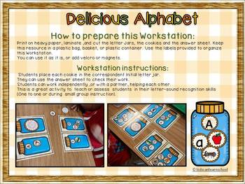 Delicious Alphabet- Letter-sound recognition Workstation