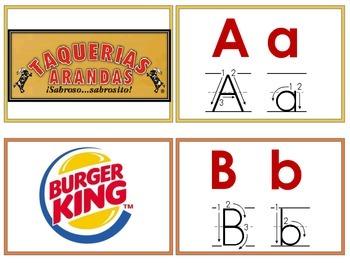 Delicious Alphabet Matching cards