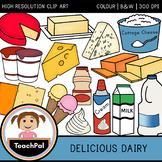 Delicious Dairy Clip Art - Food Groups