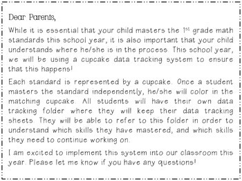 CCSS Math Data Tracking Sheet | First Grade | Student Tracking System