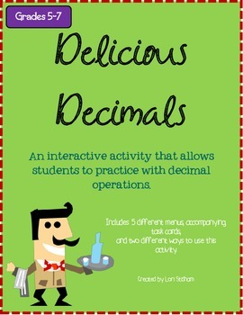 Delicious Decimals: A Restaurant Activity for Decimal Operations