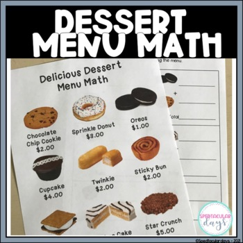 Delicious Desserts Menu Math - Real Photos