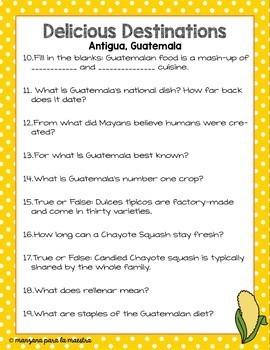 Delicious Destination Antigua Guatemala Movie Guide in English Culture Sub Plan