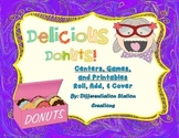 """Delicious Donuts """"Roll, Add, & Cover"""" Centers, Games, and Printables"""