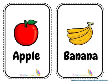Delicious Fruits Free Flash Cards