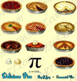 Delicious Pie Desserts Clipart 13 Pack Digital Graphics