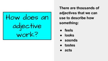 Delicious Describing Words