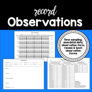 Delightful Data! {A Pack of Data Collection Sheets for Special Educators}