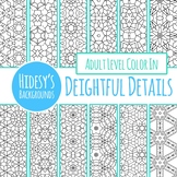 Delightful Details Adult Level Detailed Coloring In Digital Papers / Backgrounds
