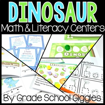Math and Language Arts Centers: A Dinosaur Theme Unit