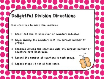 Delightful Division Practice- no remainders