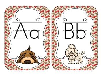 Delightful Dogs Alphabet Cards