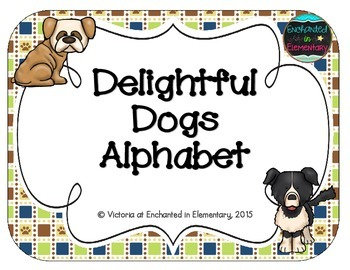 Delightful Dogs Alphabet Cards