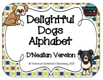 Delightful Dogs Alphabet Cards: D'Nealian Set