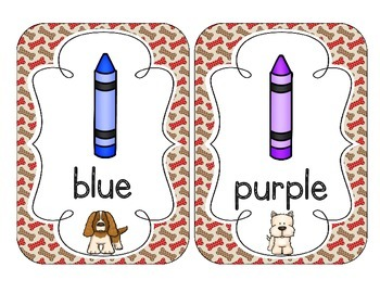 Delightful Dogs Color Cards