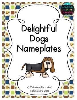 Delightful Dogs Nameplates
