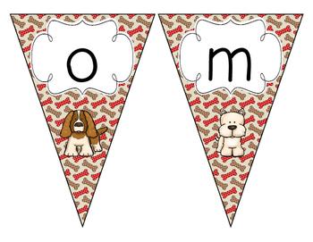 Delightful Dogs Welcome Pennant: Bones Set
