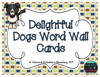 Delightful Dogs Word Wall Cards