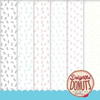 Delightful Donuts Clip Art / Food Clip Art Set