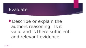 Delineate and Evaluate