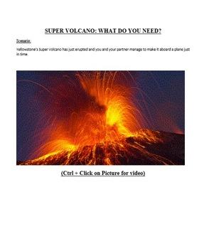 Delineating a speaker's argument - Super Volcano Explosion Simulation
