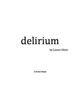 Delirium Novel Study