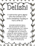 Delish! Subtraction CCSS Aligned Math Game