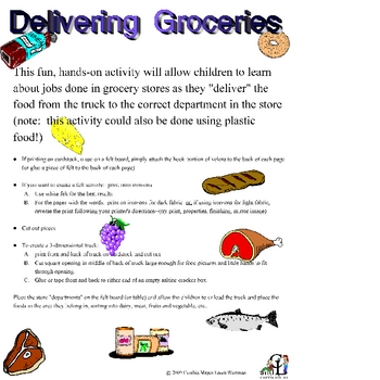 Deliver The Groceries: Community Helpers, Categorizing