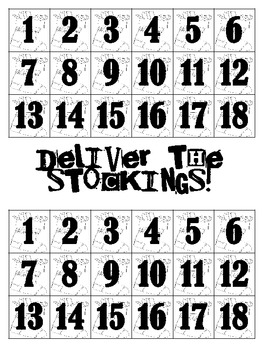 Deliver the Stockings {Math Game}