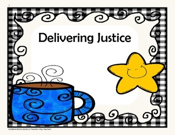 Delivering Justice - 4th Grade - Tri folds+Activities