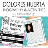 Delores Huerta Biography & Reading Response Activities | D