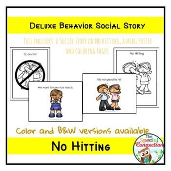 Deluxe Behavior Social Story: No Hitting