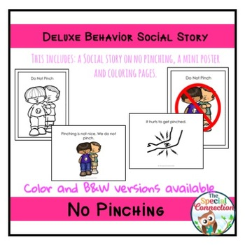 Deluxe Behavior Social Story: No Pinching