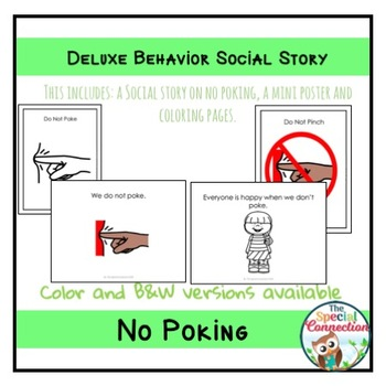 Deluxe Behavior Social Story: No Poking