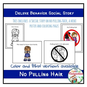 Deluxe Behavior Social Story: No Pulling Hair