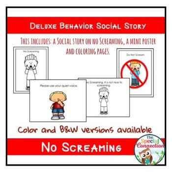 Deluxe Behavior Social Story: No Screaming