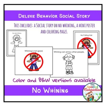 Deluxe Behavior Social Story: No Whining