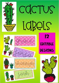 Deluxe Cactus & Succulent Classroom Labels