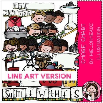 Melonheadz: Chore chart clip art - LINE ART