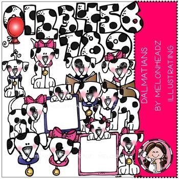 Dalmatians clip art- by Melonheadz